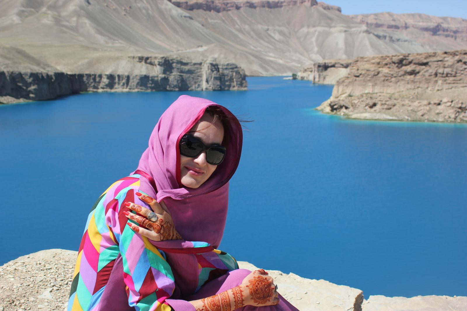 Renata Matusiak w Pakistanie, nad jeziorem Band-e-Amir [fot. archiwum R. Matusiak]