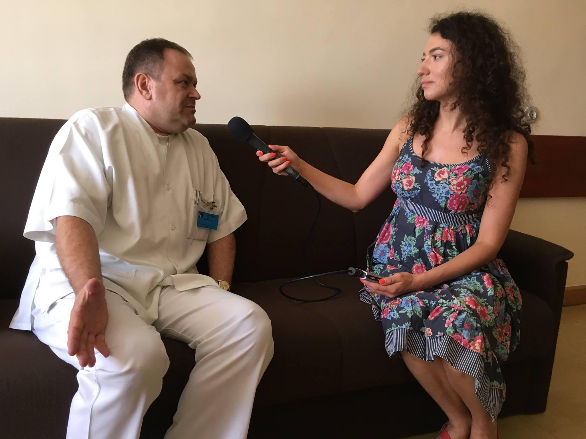 Dr n. med. Ryszard Noparlik w rozmowie z Katarzyną Zawadzką [fot. Małgorzata Lis-Skupińska]