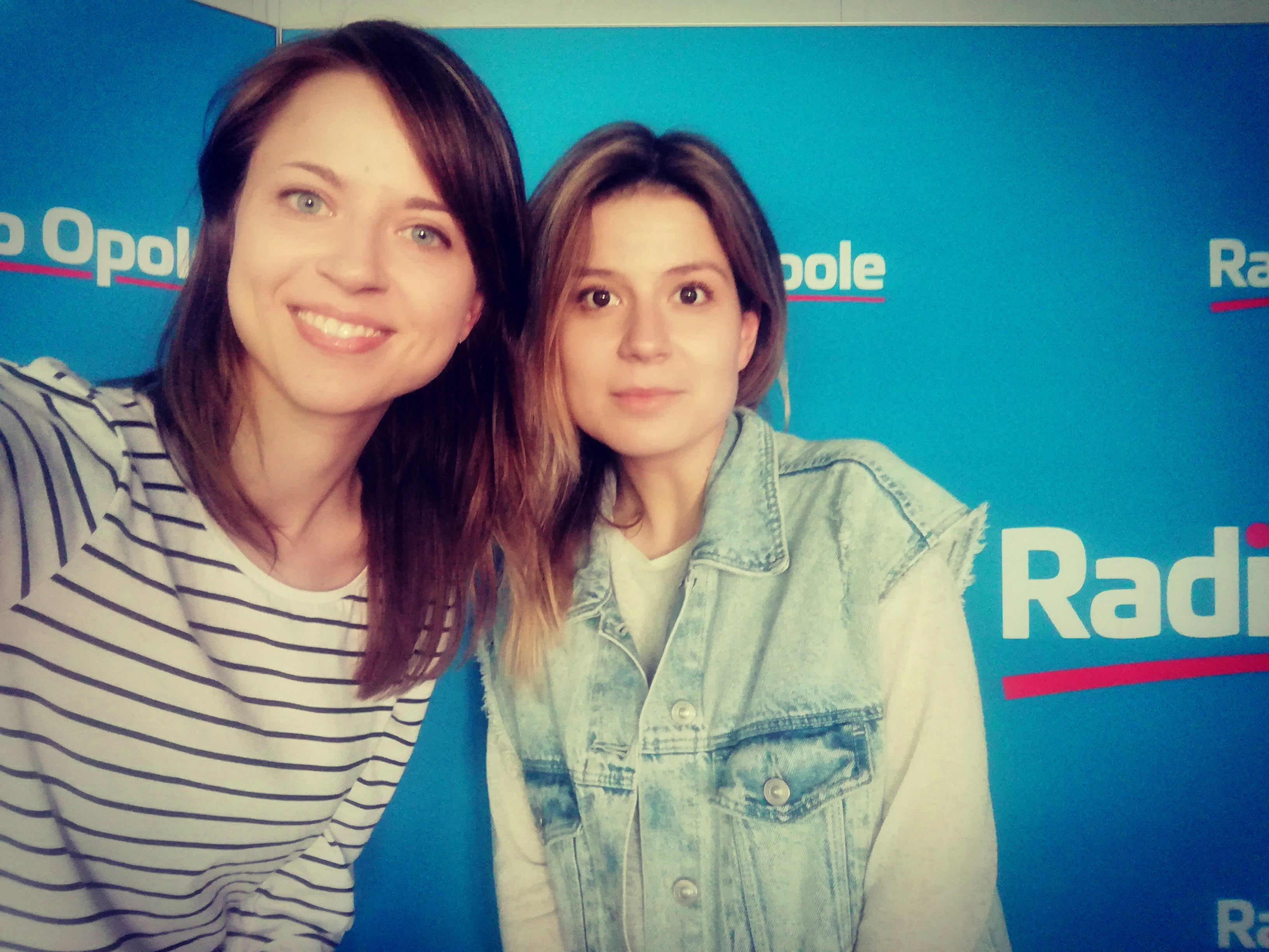 Anita Janczak, Monika Wydrzyńska w studiu Radia Opole