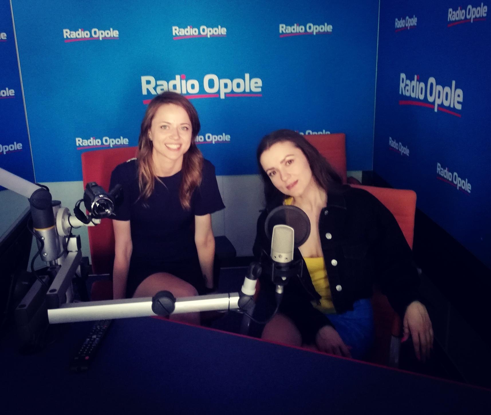Lanberry i Anita Janczak w studiu Radia Opole