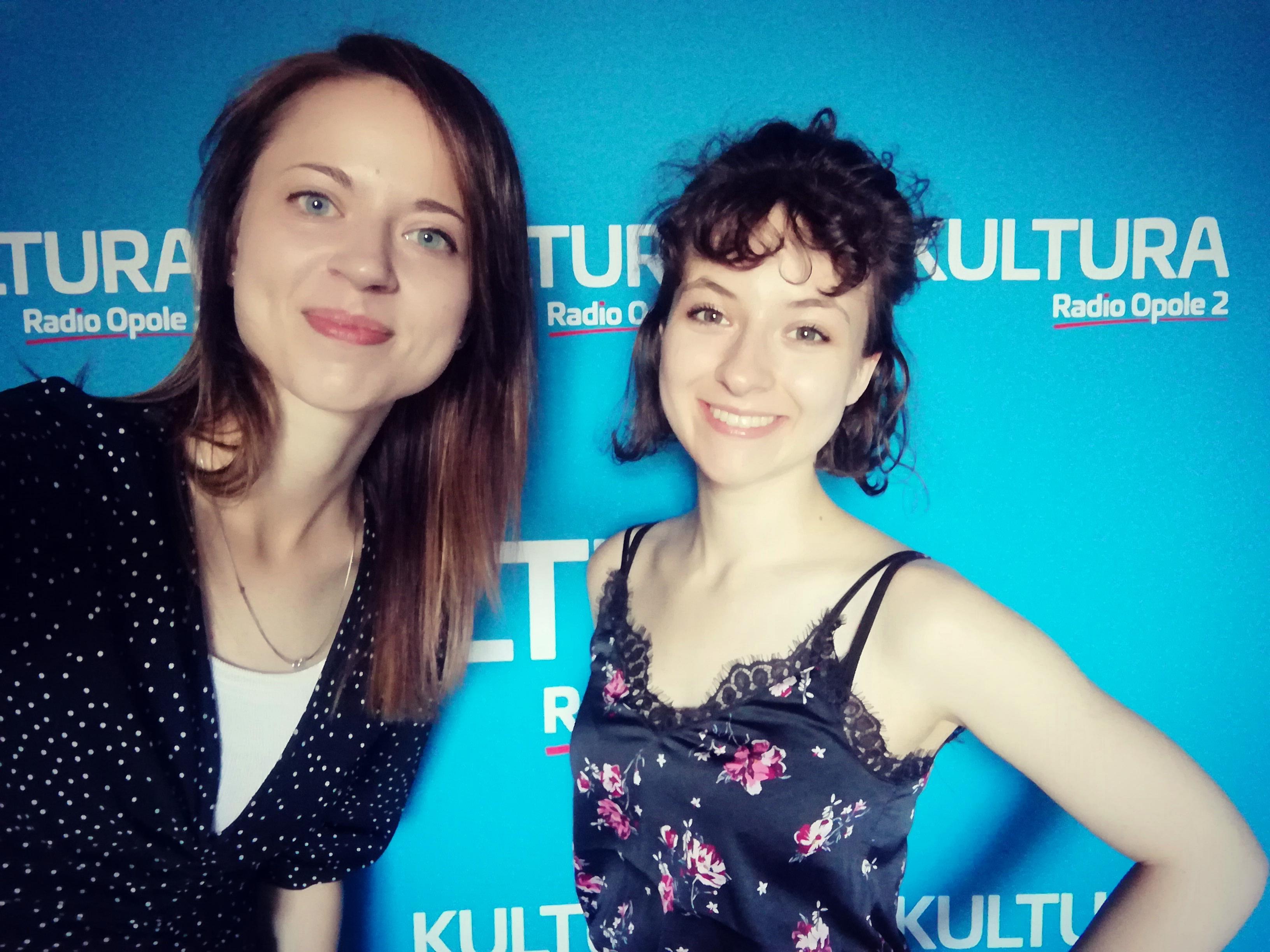 Anita Janczak i Kasia Sienkiewicz w studiu Radia Opole