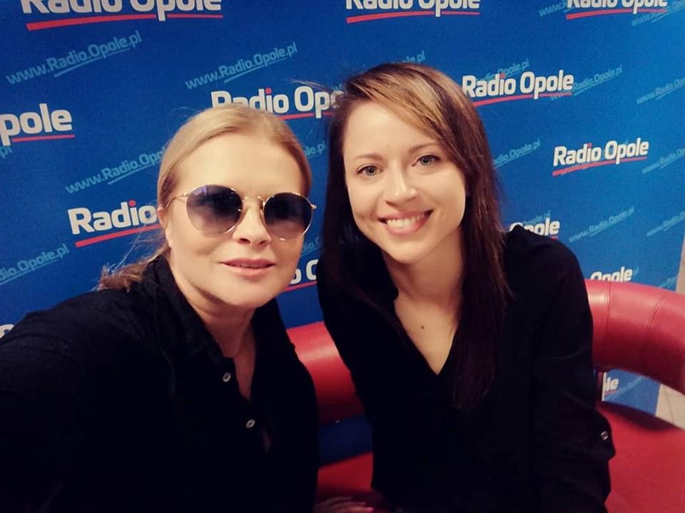 Urszula i Anita Janczak w studiu Radia Opole