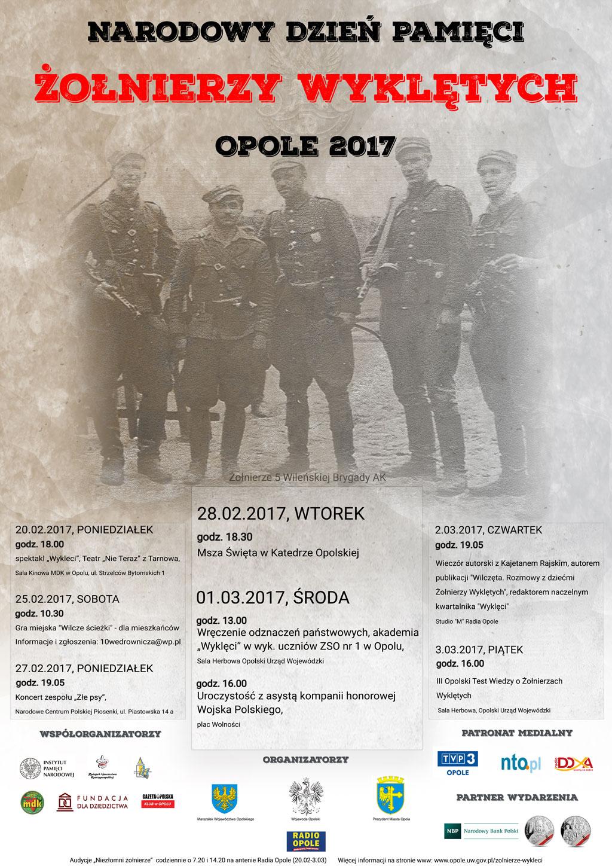 Plakat opolskich obchodów Narodowego Dnia Pamięci Żołnierzy Wyklętych [materiały organizatora]