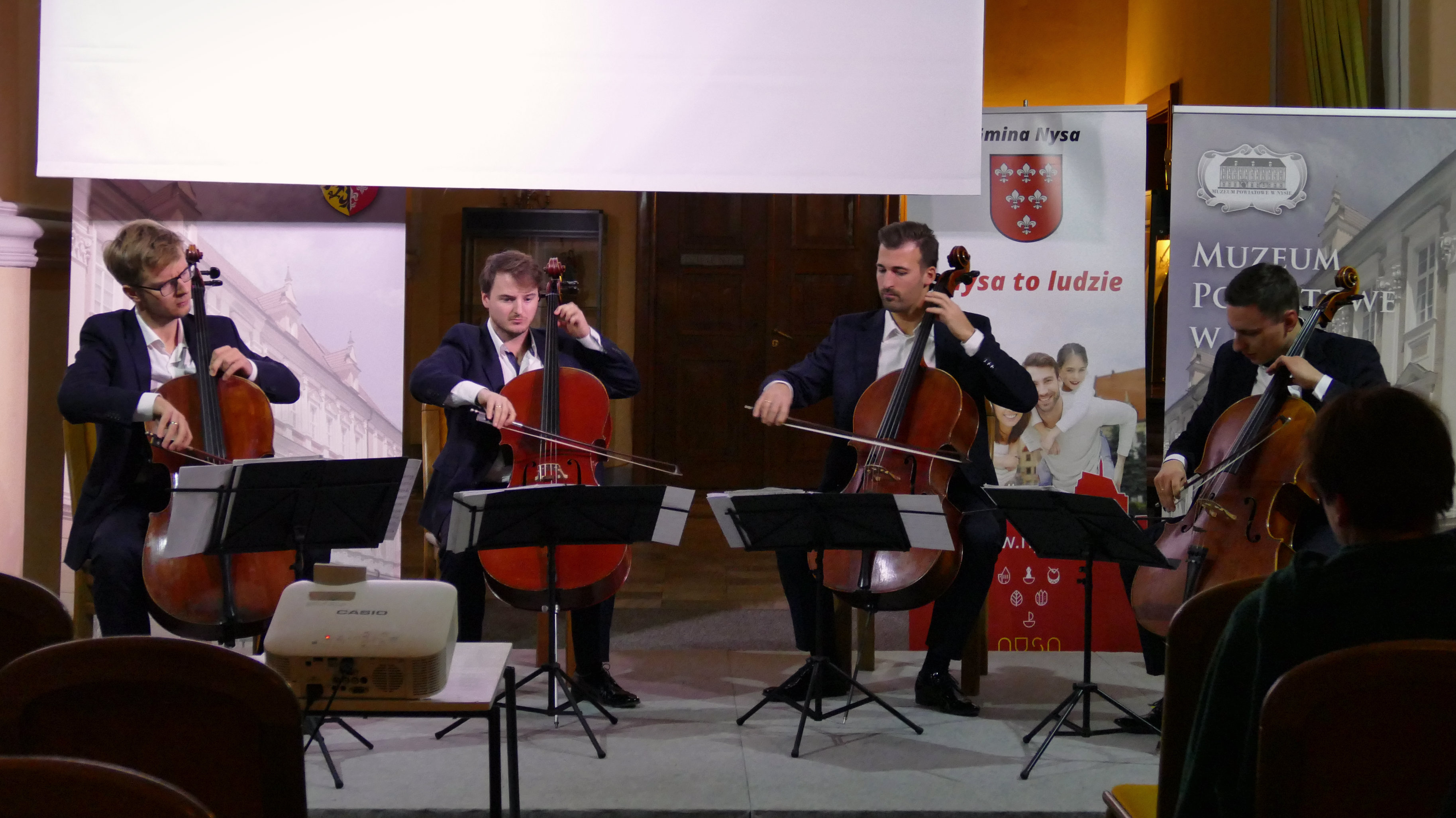 Polish Cello Quartet na zimowym koncercie w Nysie © [fot. Małgorzata Ślusarczyk]