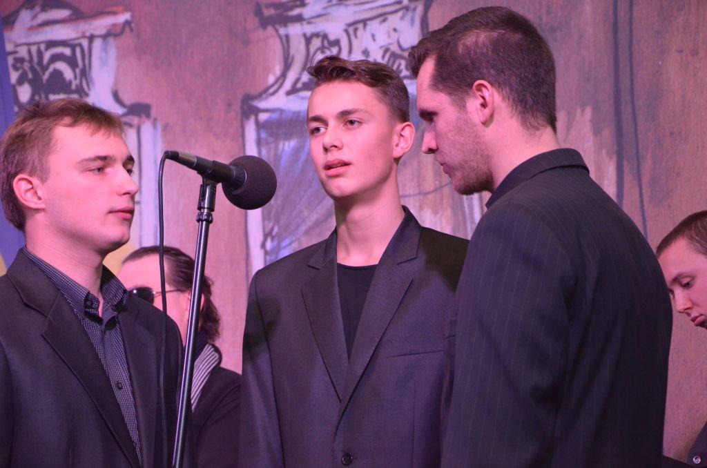 Attonare zaprezentowało repertuar świąteczny w Studiu M Radia Opole [fot. Piotr Wrona]