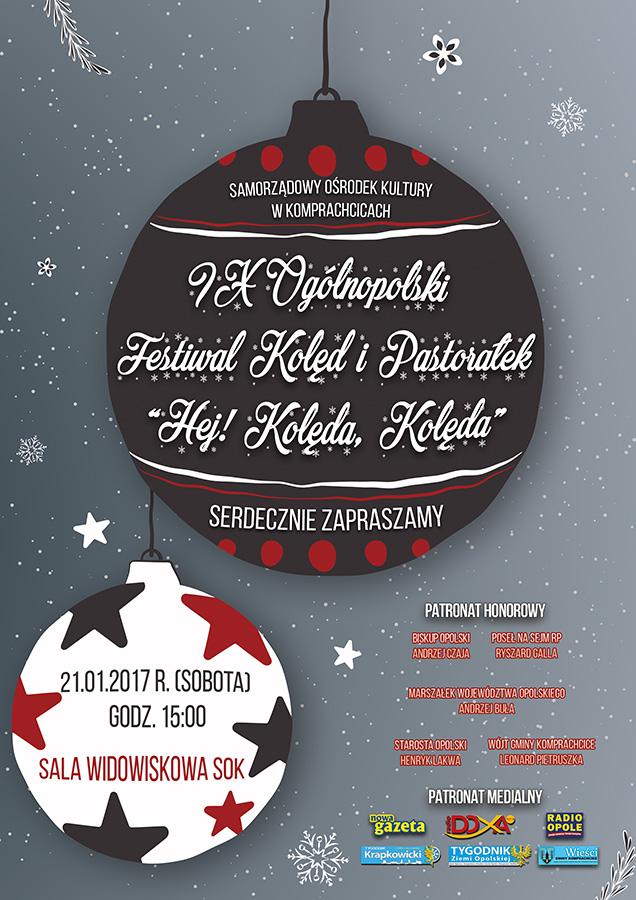 """IX Ogólnopolski Festiwal Kolęd i Pastorałek """"Hej! Kolęda, Kolęda…"""" w Komprachcicach już w sobotę (21.01)"""