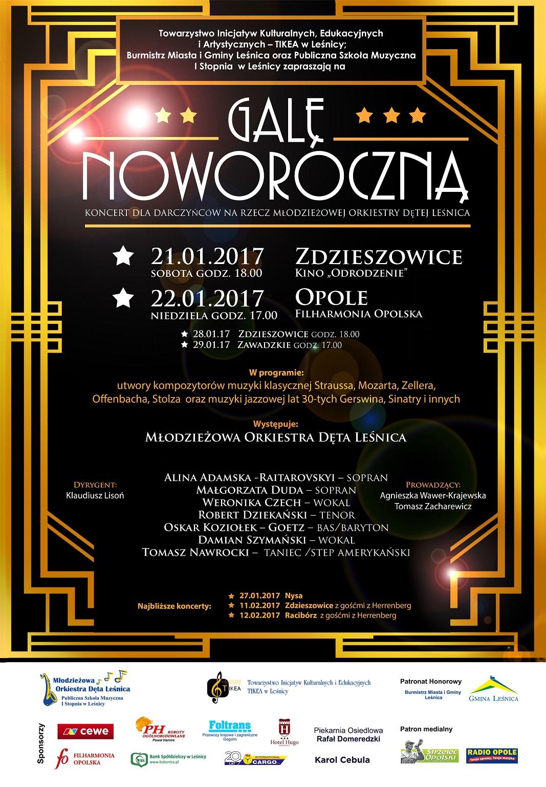 Gala Noworoczna Towarzystwa Inicjatyw Kulturalnych Edukacyjnych i Artystycznych TIKEA