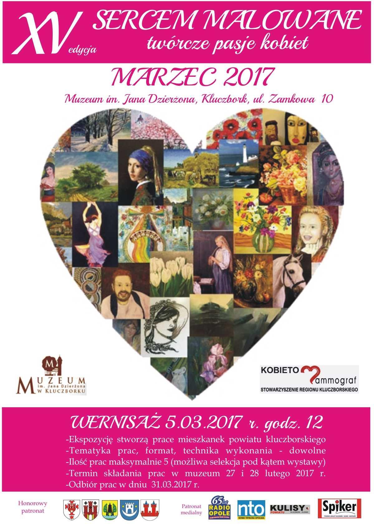 'Sercem malowane - twórcze pasje kobiet' - wystawa w Kluczborku