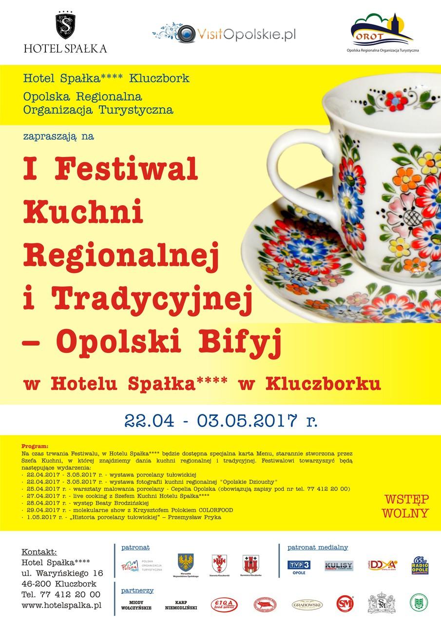 I Festiwal Kuchni Regionalnej i Tradycyjnej - Opolski Bifyj od 22.04 do 03.05 w Kluczborku