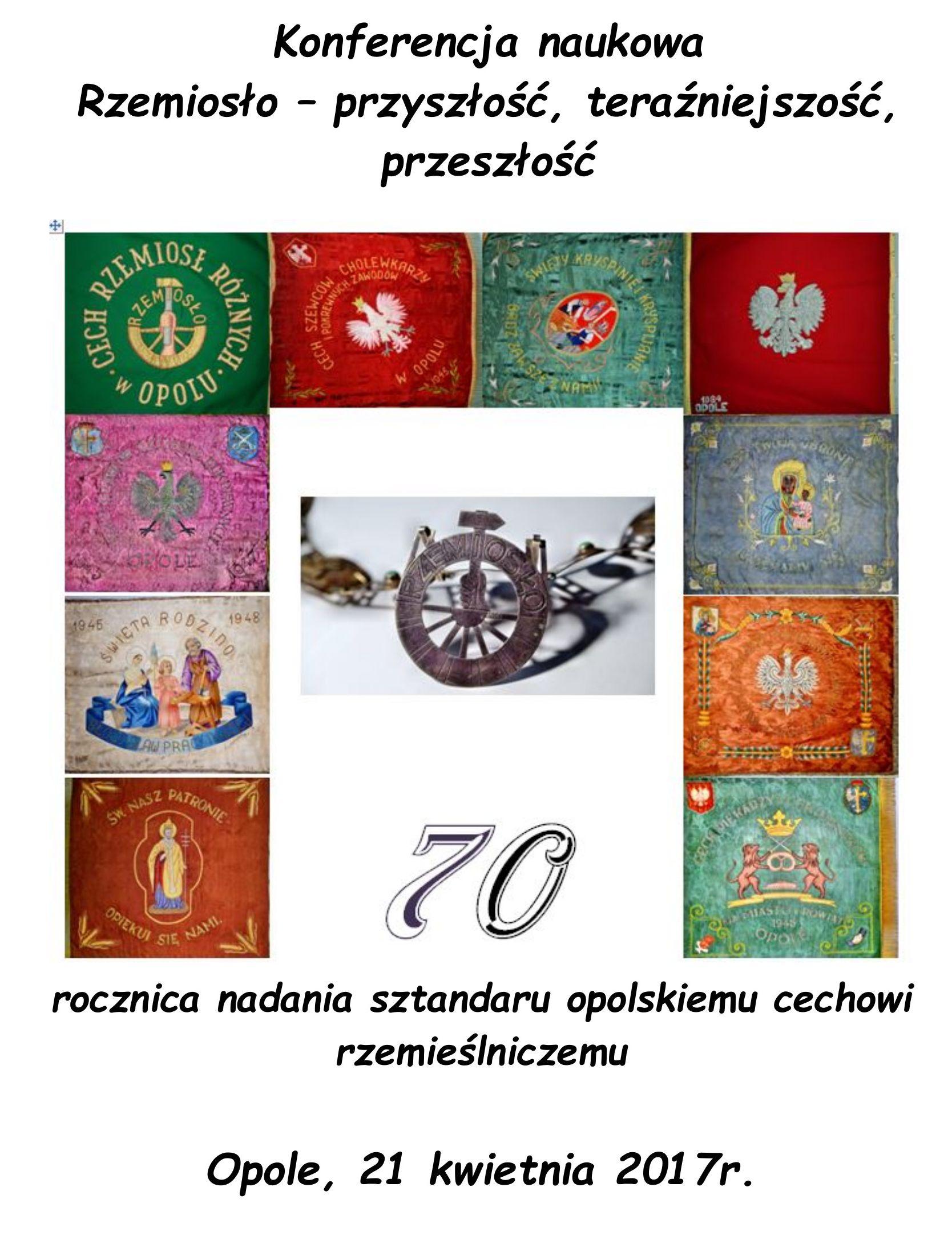 Cech rzemiosła w Opolu z okazji 70-lecie istnieniazaprasza na konferencję
