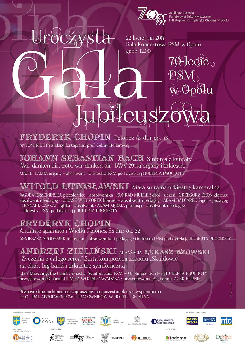 Gala Jubileuszowa z okazji 70-lecia szkoły muzycznej w Opolu