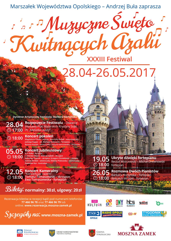 Plakat reklamujący Muzyczne Święto Kwitnących Azalii [materiały organizatora]