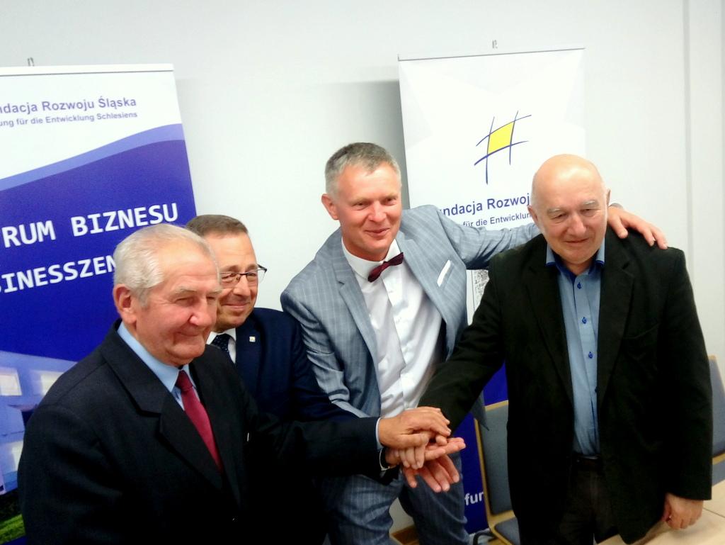 H. Paisdzior, R. Galla, A. Czech i H. Kroll [fot. Witek Wośtak]