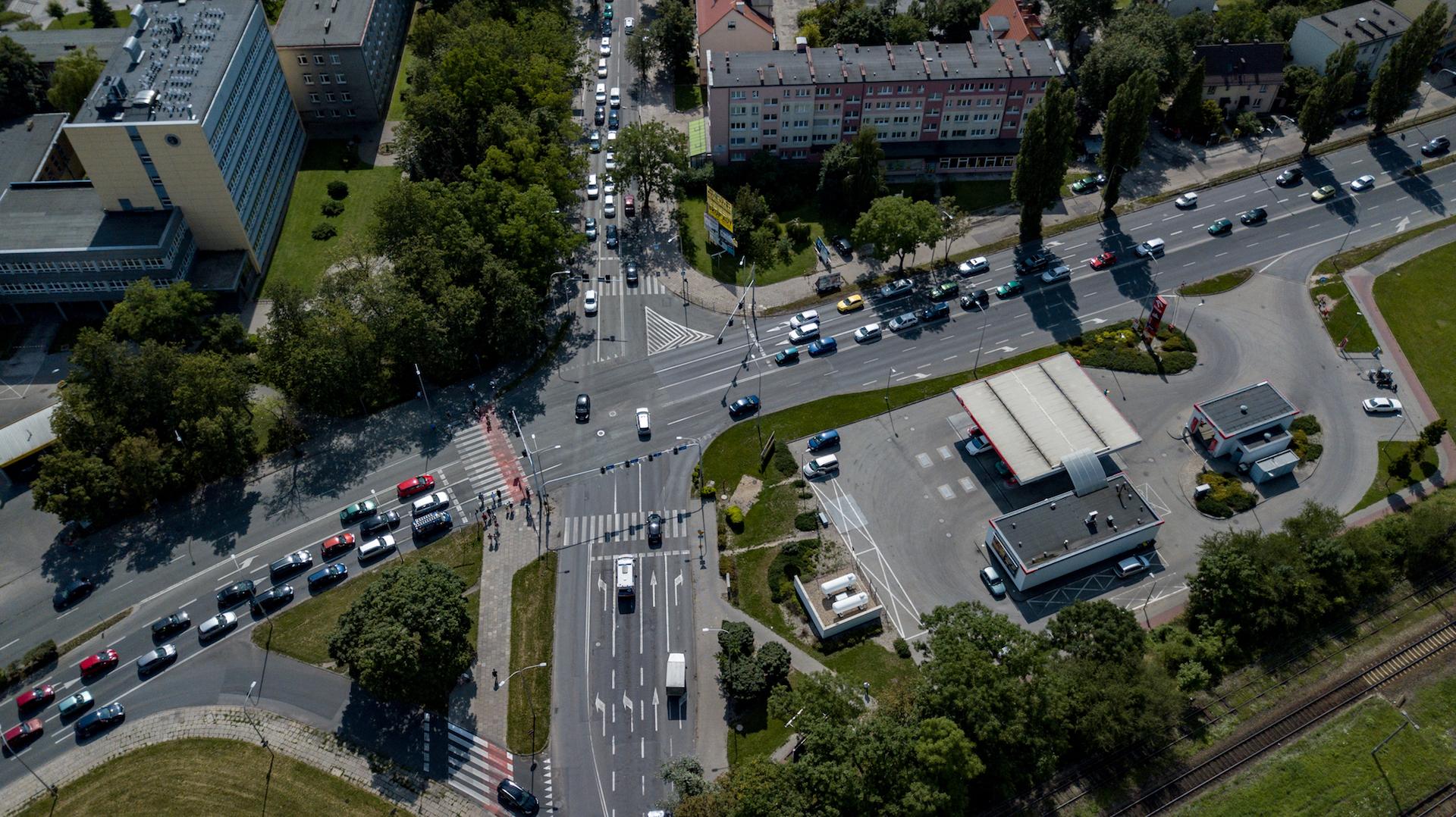 Skrzyżowanie przy dworcu Opole Wschodnie [fot. materiały prasowe UMO]