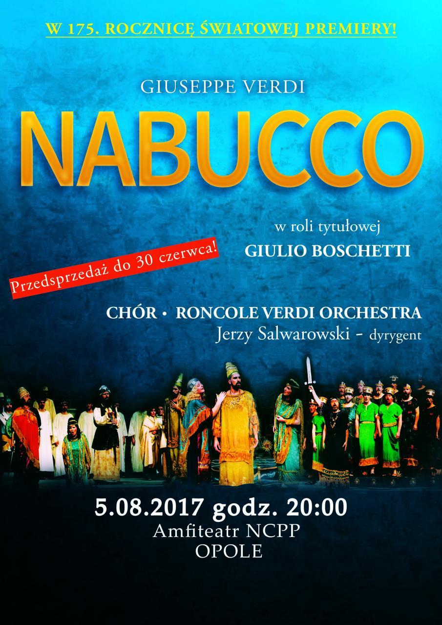 Słynna opera Verdiego już wkrótce w amfiteatrze NCPP