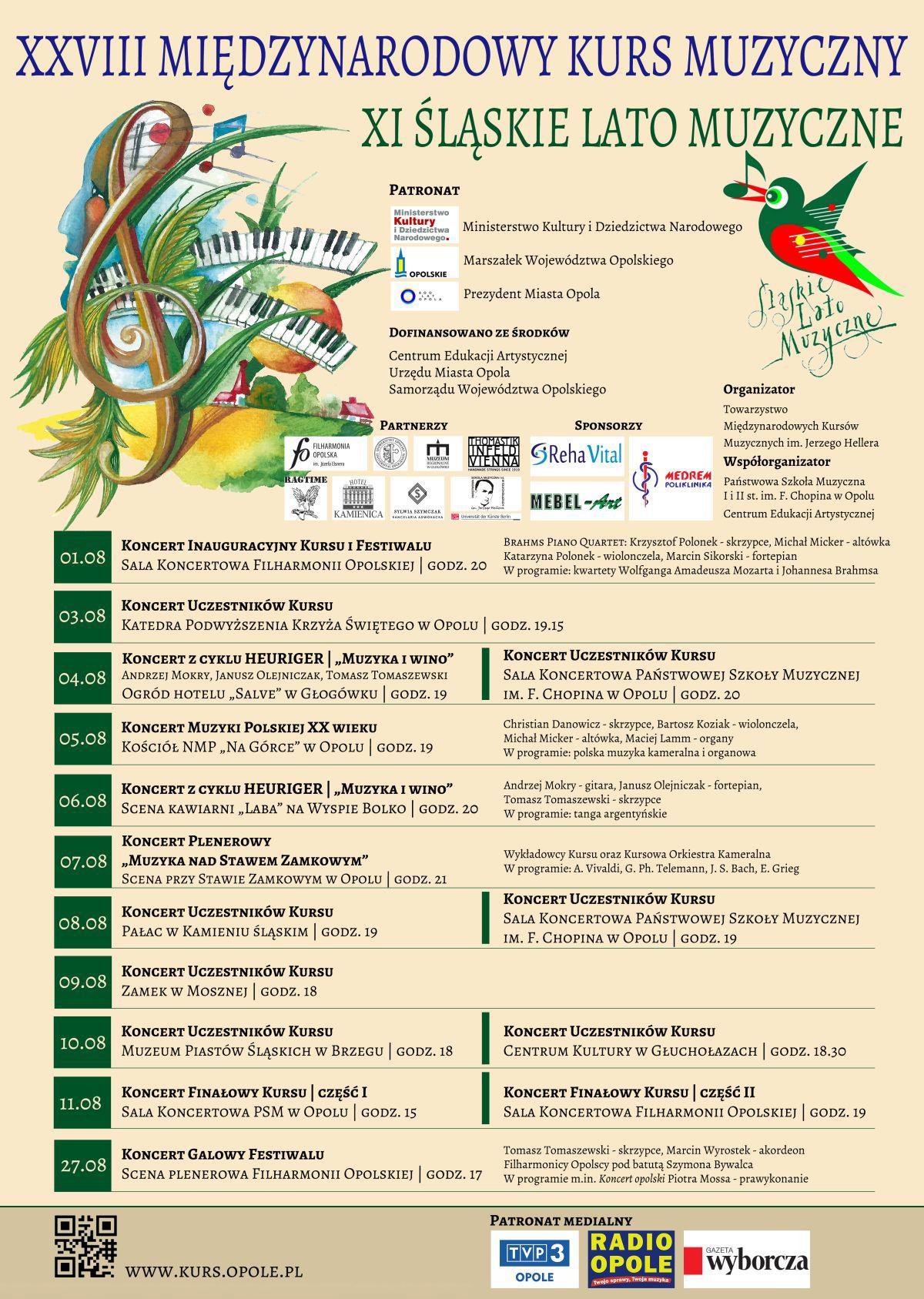 XI Śląskie Lato Muzyczne - zobacz program koncertów