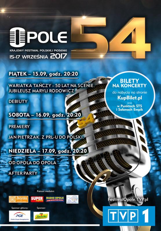 54. Krajowy Festiwal Polskiej Piosenki – zobacz program, kup bilet i przyjdź