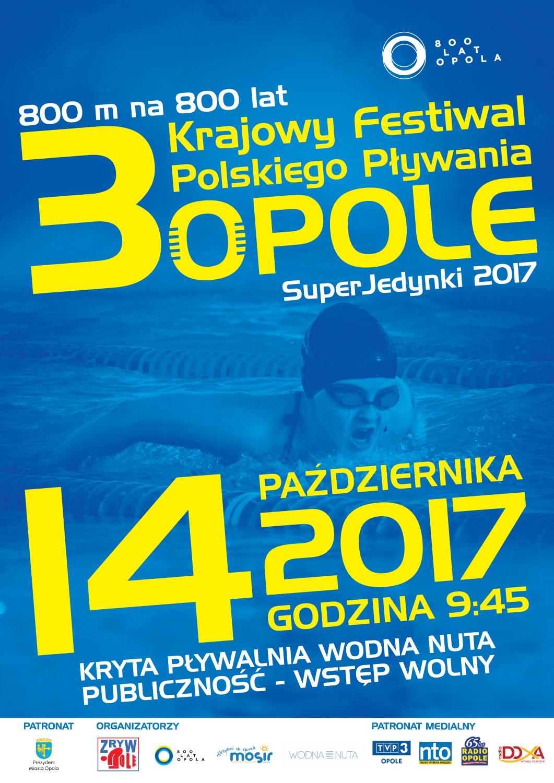 Krajowy Festiwal Polskiego Pływania w Opolu. SuperJedynki 2017 już w sobote (14.10) na Wodnej Nucie [fot. Daria Placek]