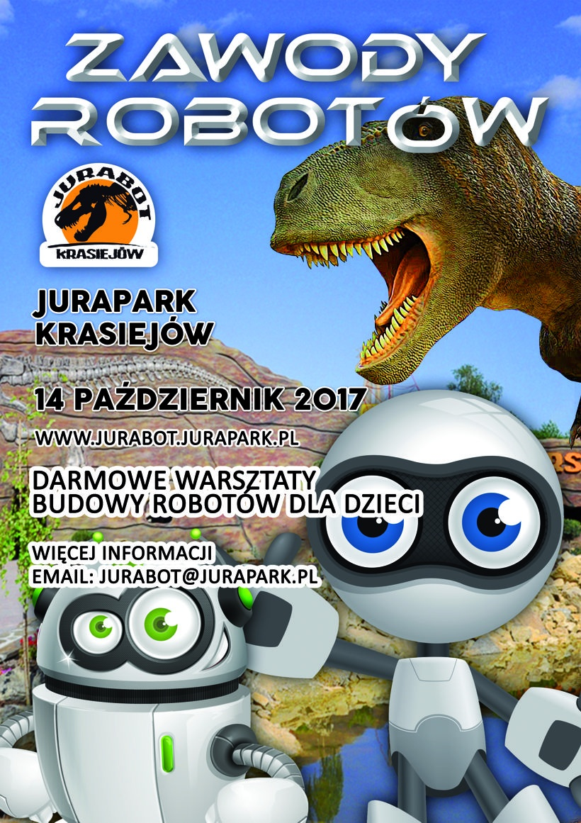 Zawody robotów mobilnych już w sobotę w Krasiejowie – też tam będziemy!