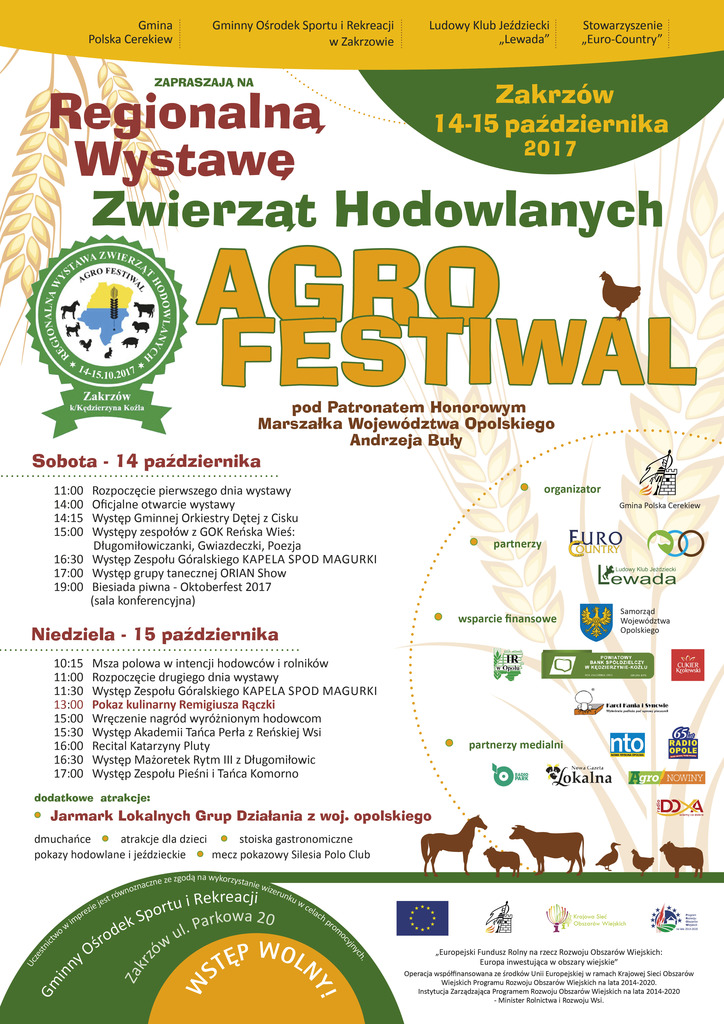 Wystawa zwierząt hodowlanych od soboty w Zakrzowie