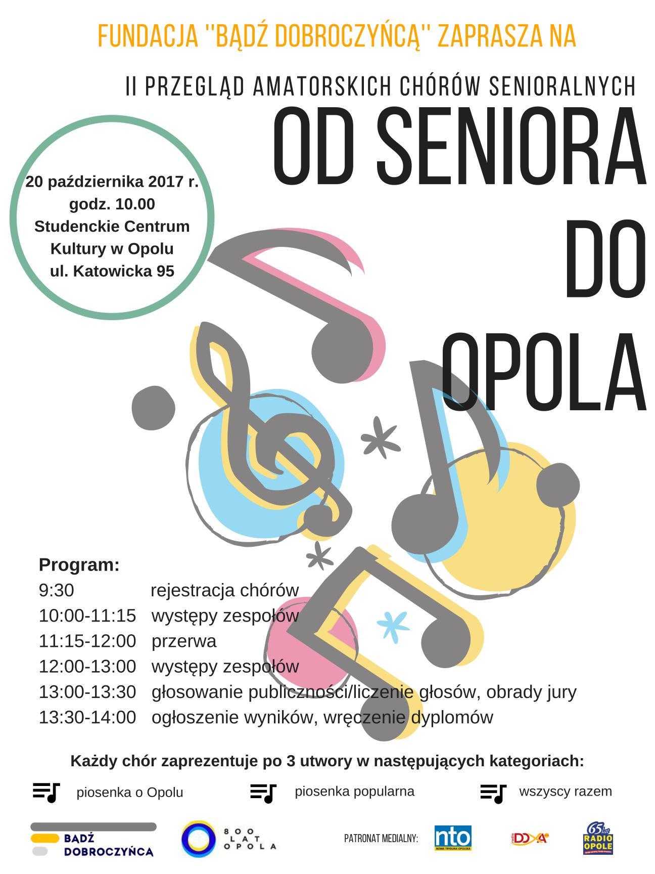 Amatorskie chóry senioralne zaprezentują się w piątek w SCK
