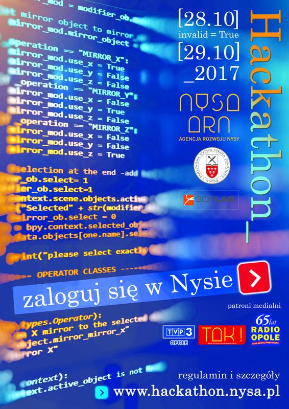 Pasjonaci programowania, jeszcze do piątku można rejestrować swój udział w nyskim hackathonie