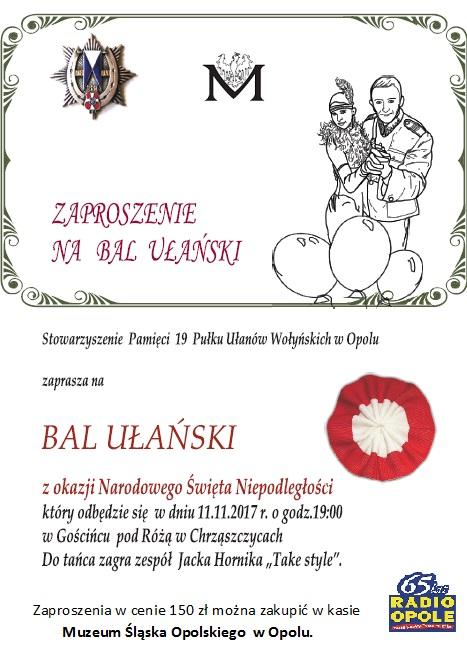 Bal Ułański z okazji Narodowego Święta Niepodległości [materiały organizatora]
