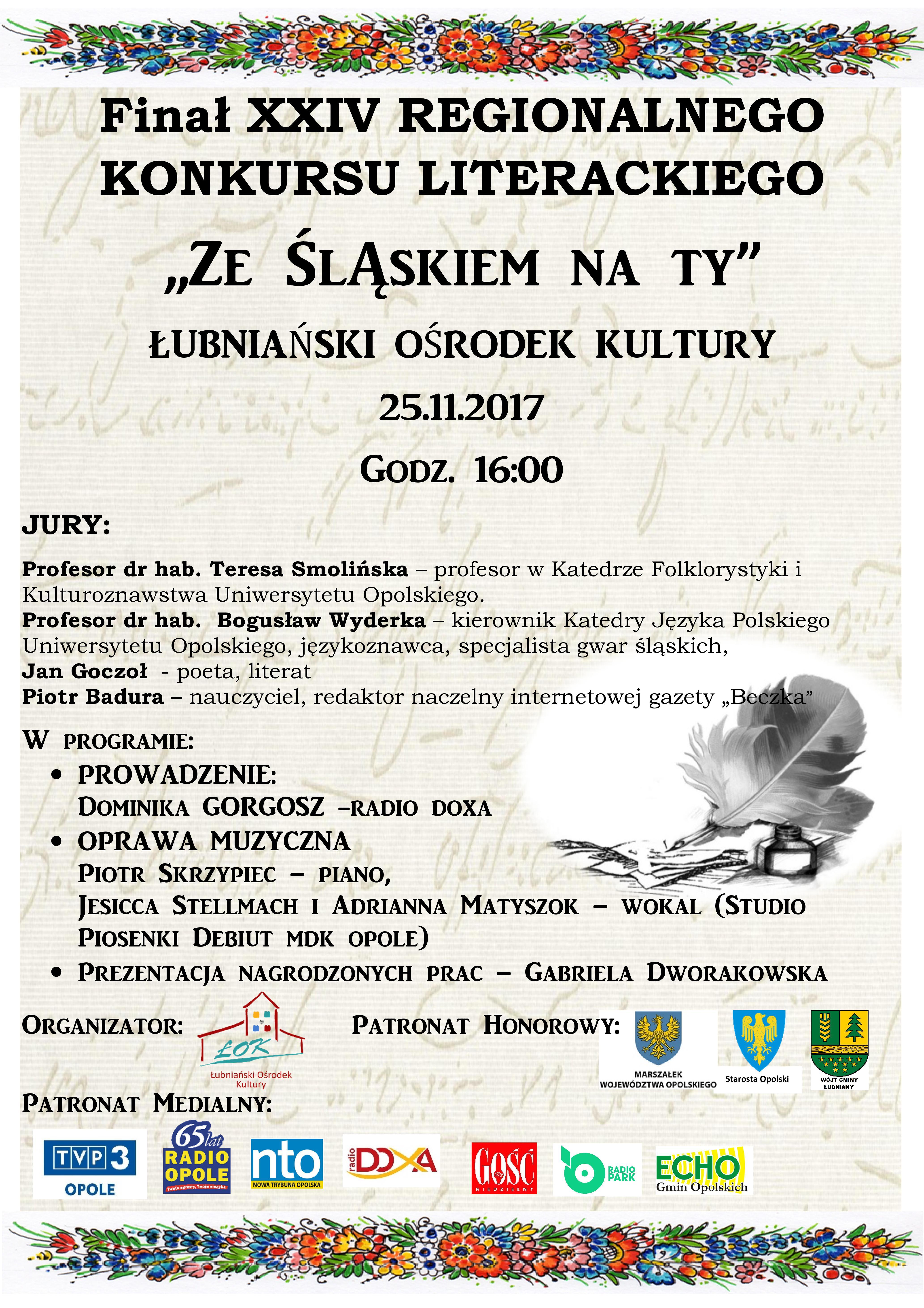 W Łubnianach nagrodzą laureatów konkursu 'Ze Śląskiem na Ty'