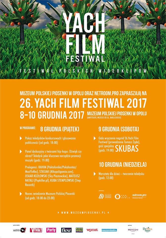 Pokazy teledysków, spotkanie z twórcami hip-hopu i gala ze Skubasem – MPP gospodarzem 26. Yach Film Festiwal