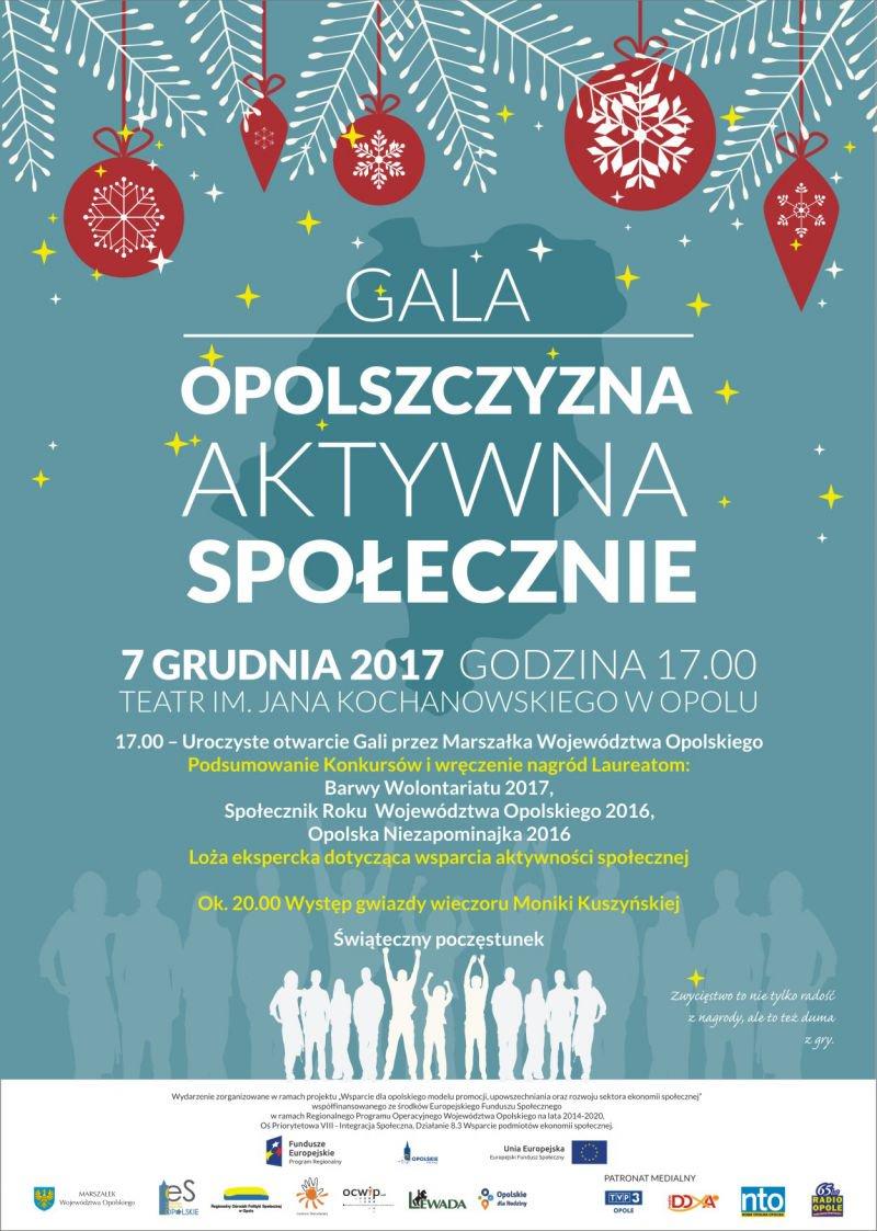 Gala 'Opolszczyzna Aktywna Społecznie' już w czwartek (07.12)