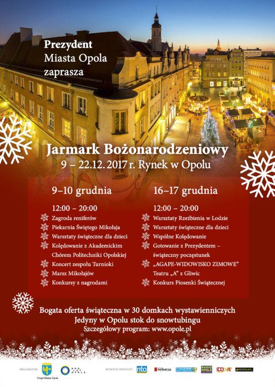 Plakat Jarmarku Bożonarodzeniowego 2017 w Opolu [materiały organizatora]