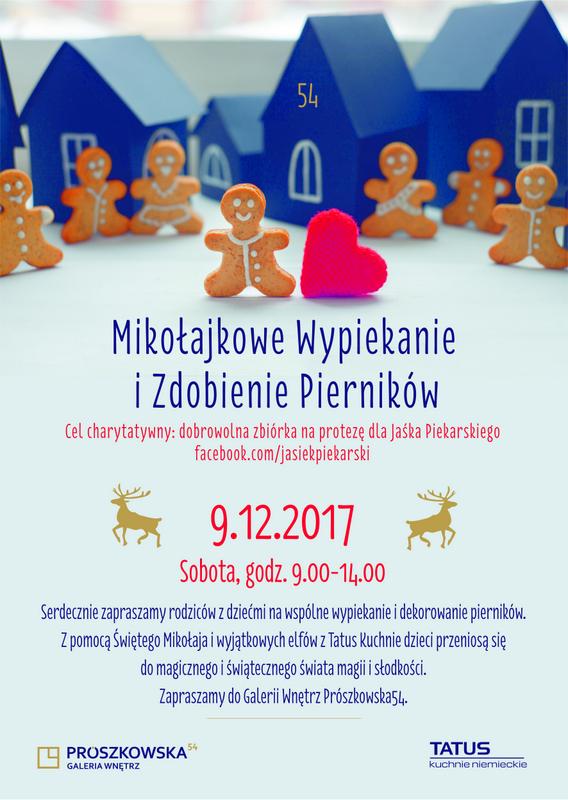 Przyjdź do Galerii Wnętrz Prószkowska 54, by piec pierniki, pomóc Jasiowi i spotkać Św. Mikołaja