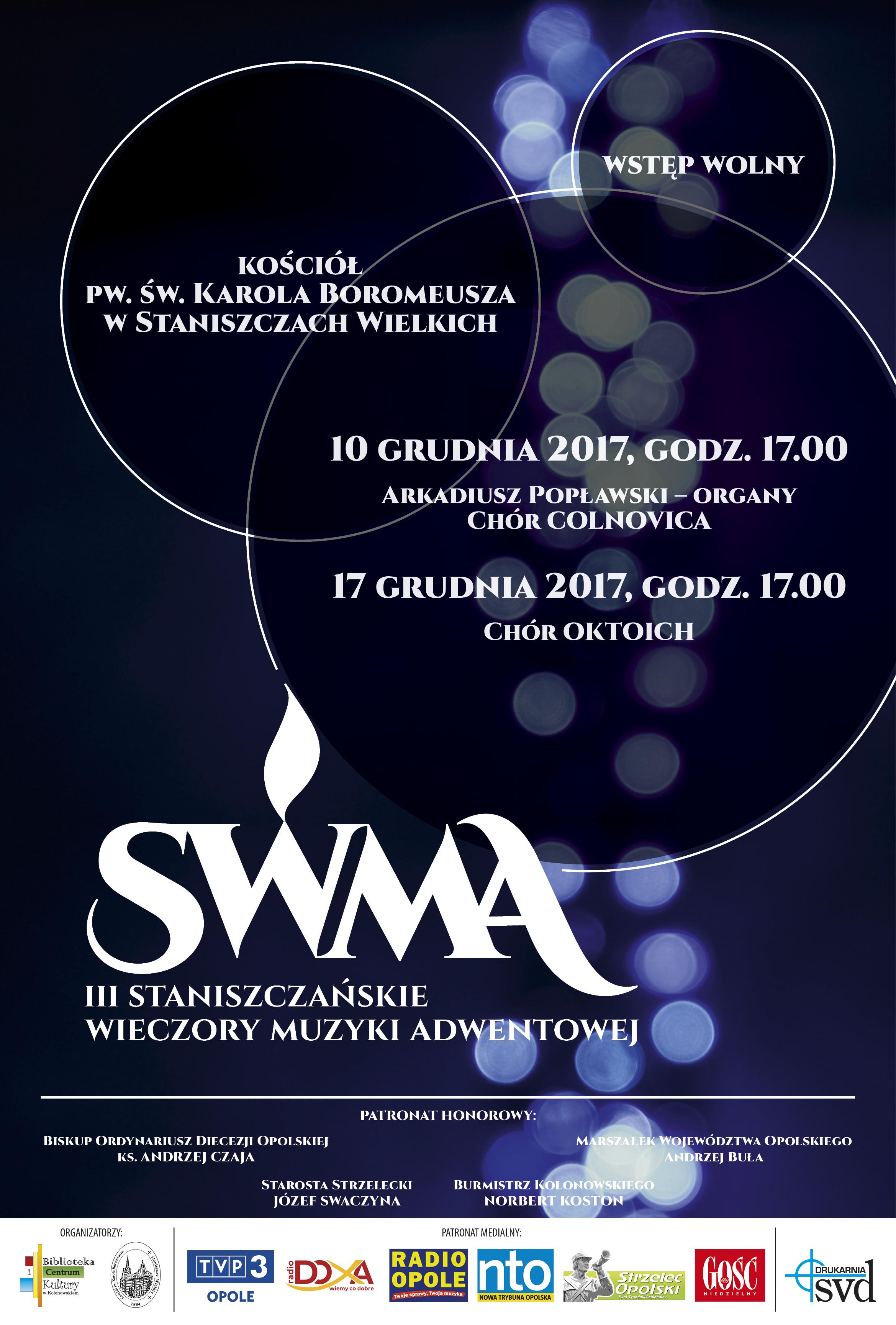 Wieczory muzyki adwentowej w Staniszczach Wielkich odbędą się 10 i 17 grudnia