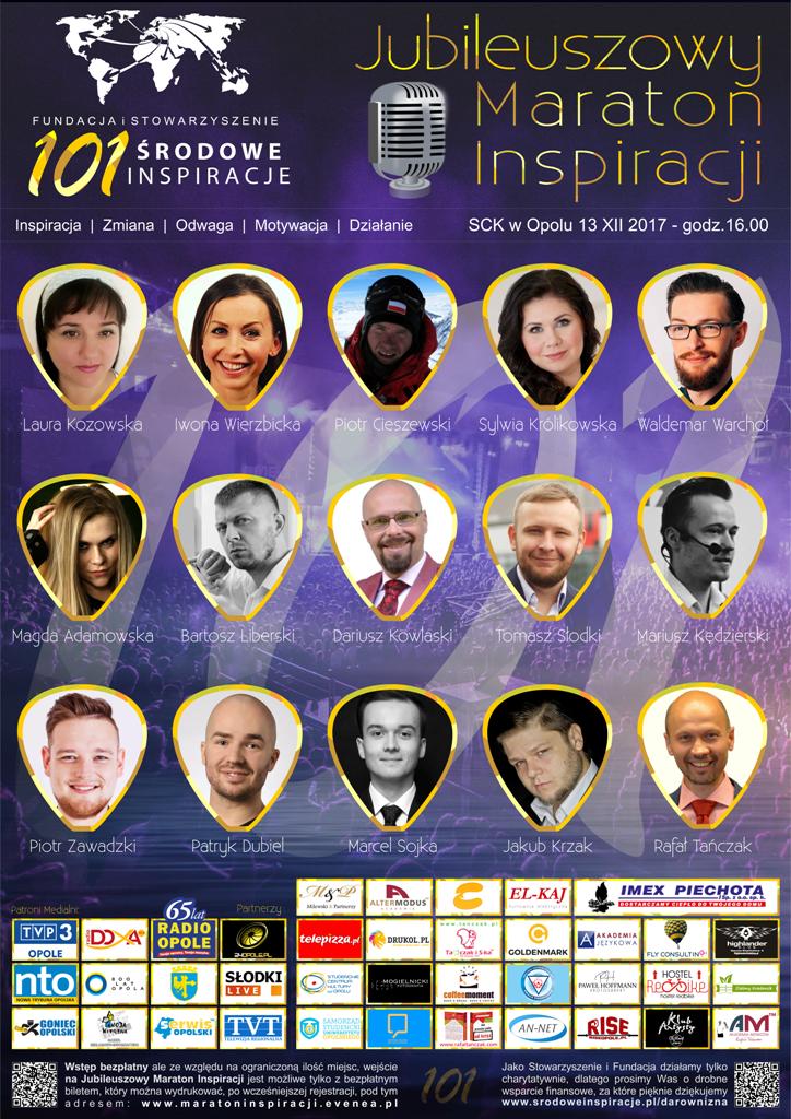 Środowe Inspiracje dla Opolan - jubileuszowy maraton z okazji 101 edycji wydarzenia