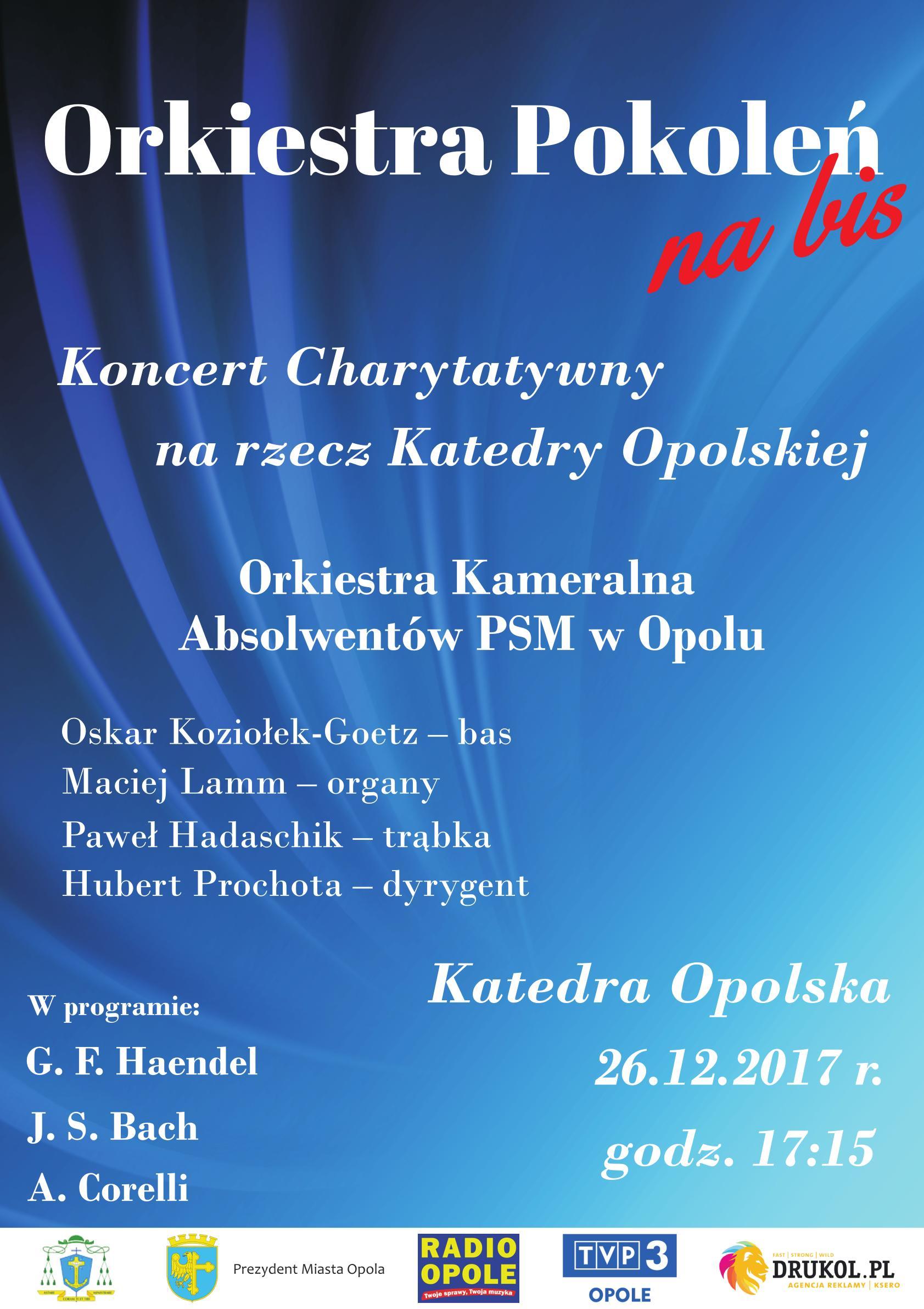 Koncert 'Orkiestra Pokoleń na bis' na rzecz Katedry Opolskiej już we wtorek