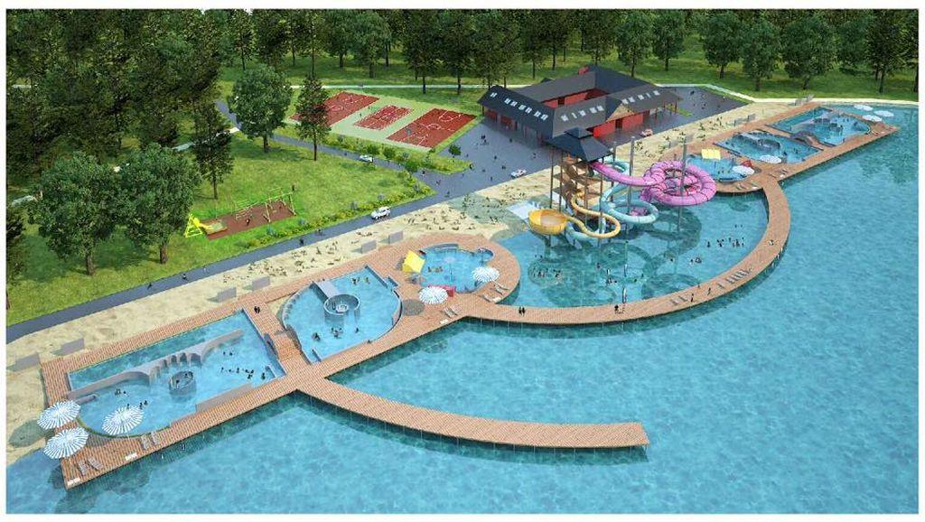 Wizualizacja kąpieliska w Nysie po przebudowie [Fot.UM Nysa]