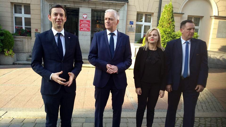 Jarosław Gowin z wizytą w Opolu. Wicepremier poparł kandydatów do rady miasta