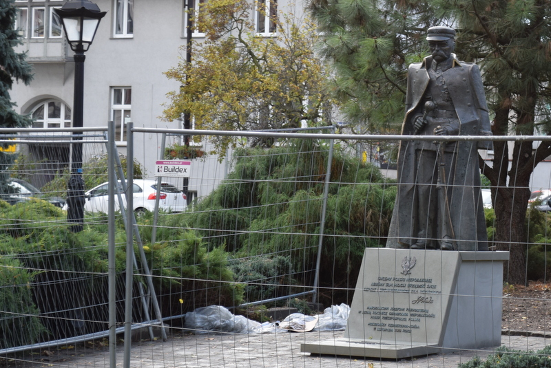 Pomnik zaraz po postawieniu [fot. Jacek Pelczar]