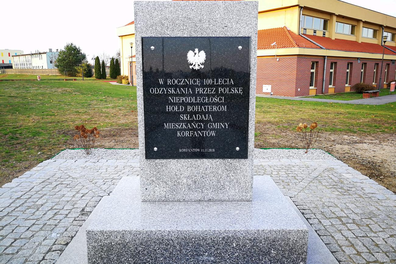 Korfantów doczekał się pomnika. Obelisk upamiętnia tych, którzy oddali życie za Polskę