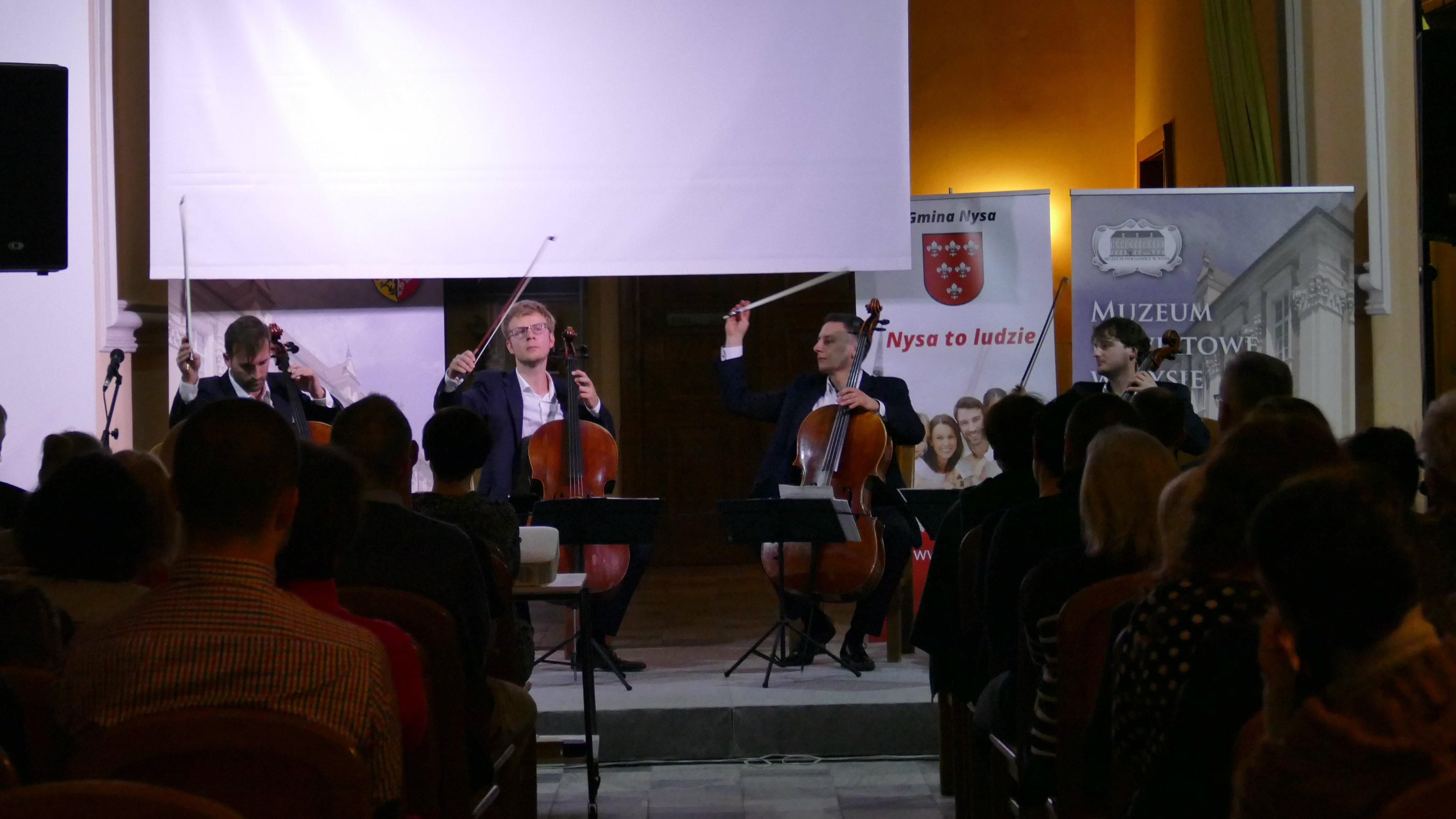 Wiolonczele w Nysie niezmiennie na topie. Zimowe spotkanie z Polish Cello Quartet