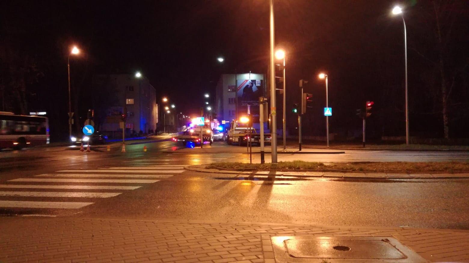 Wypadek na Niemodlińskiej w Opolu [fot.C.Puzyna]