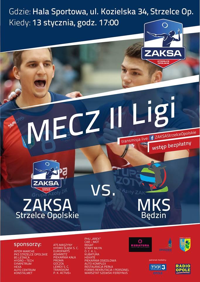 ZAKSA Strzelce Opolskie już w najbliższą sobotę (13.01) zmierzy się z MKS-em Będzin II