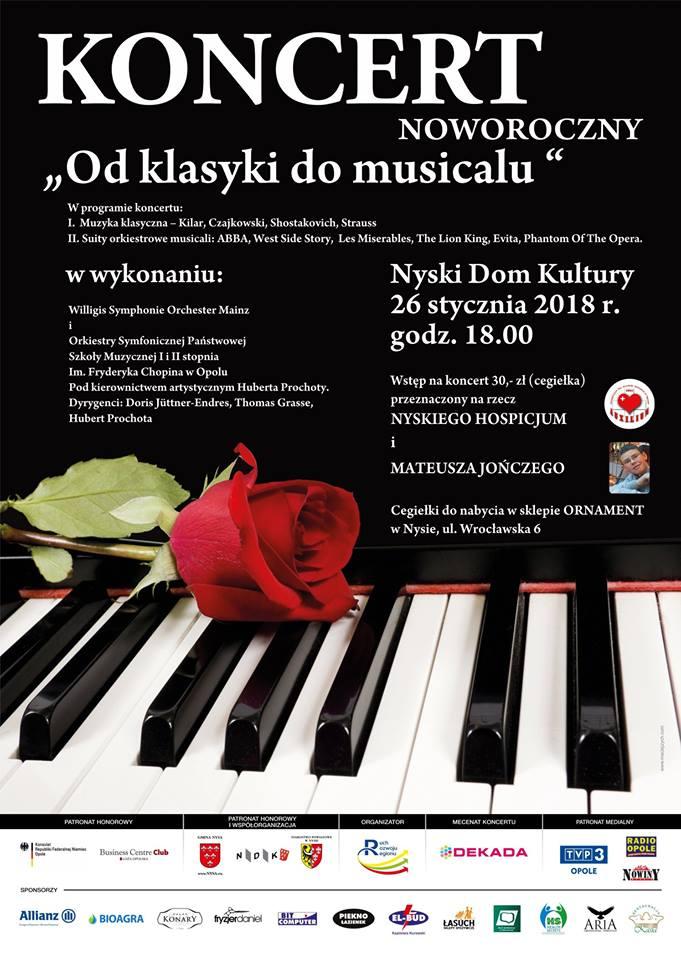 Koncert 'Od klasyki do musicalu' odbędzie się w najbliższy piątek (26.01) w Nyskim Domu Kultury