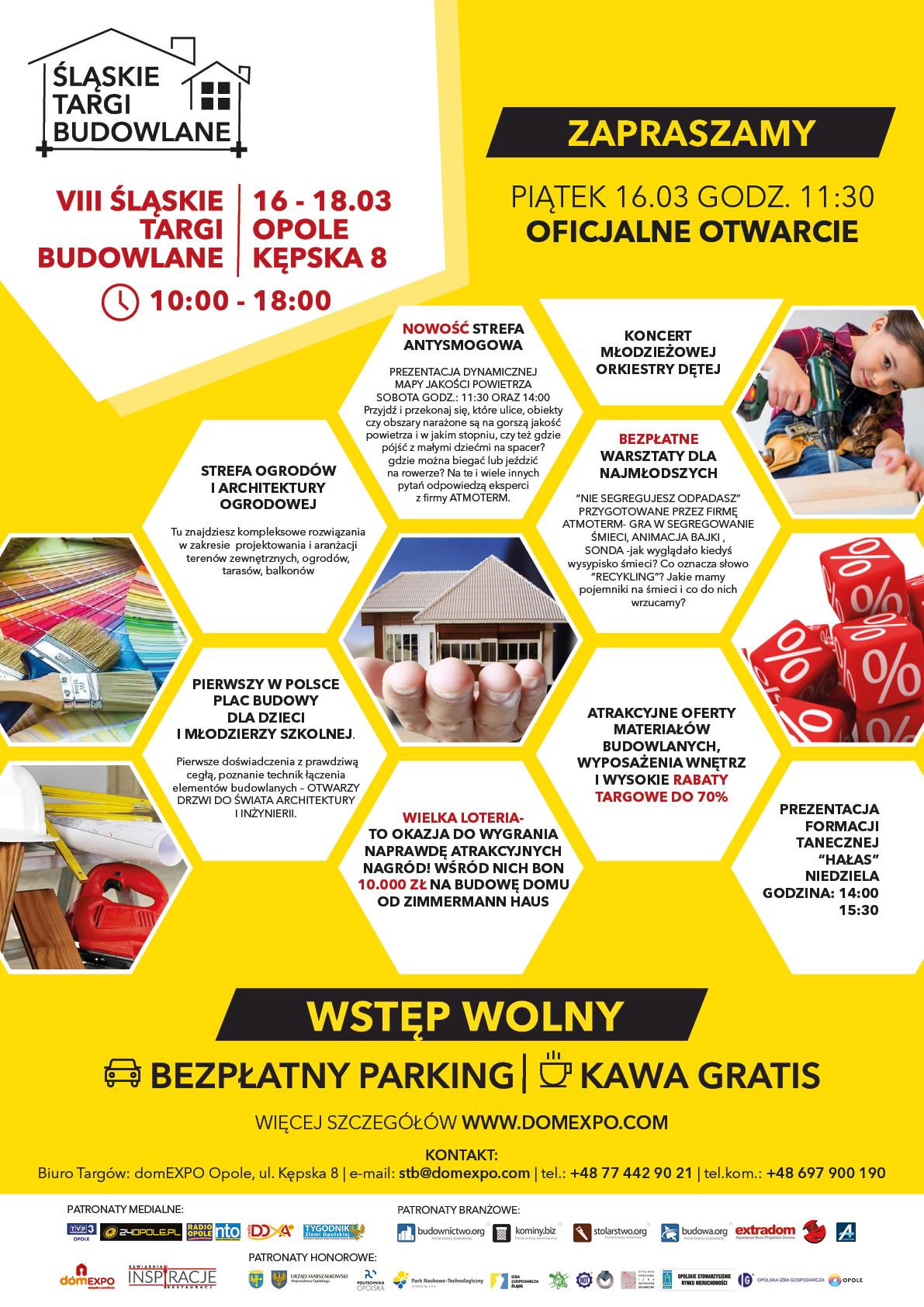 VIII Śląskie Targi Budowlane pod patronatem Radia Opole potrwają od 16 do 18 marca