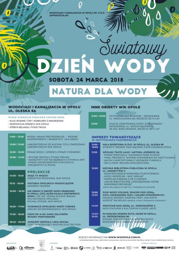 Obchody Światowego Dnia Wody także w Opolu. Też tam będziemy!