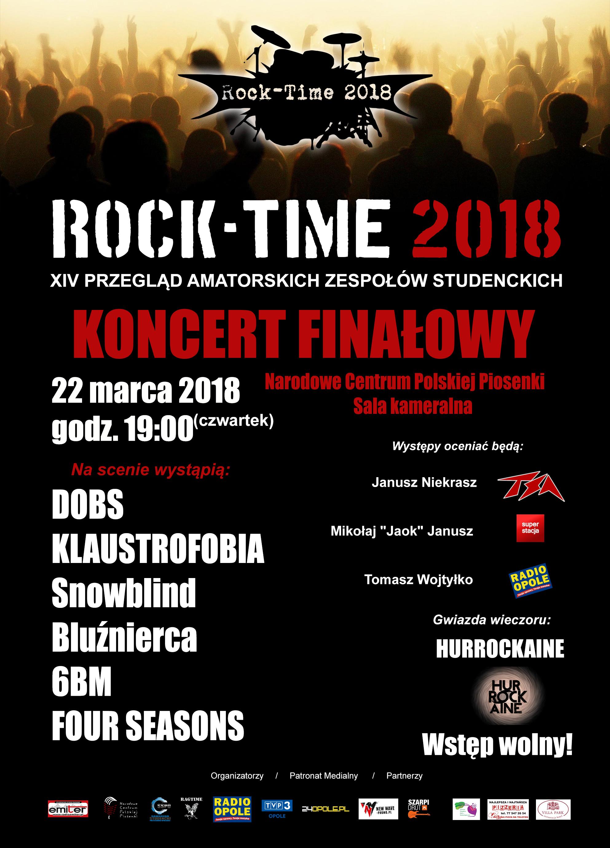 Plakat 'Rock-Time 2018' [materiały organizatora]