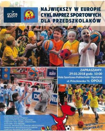 Największy w Europie cykl imprez sportowych dla przedszkolaków z finałem w Opolu