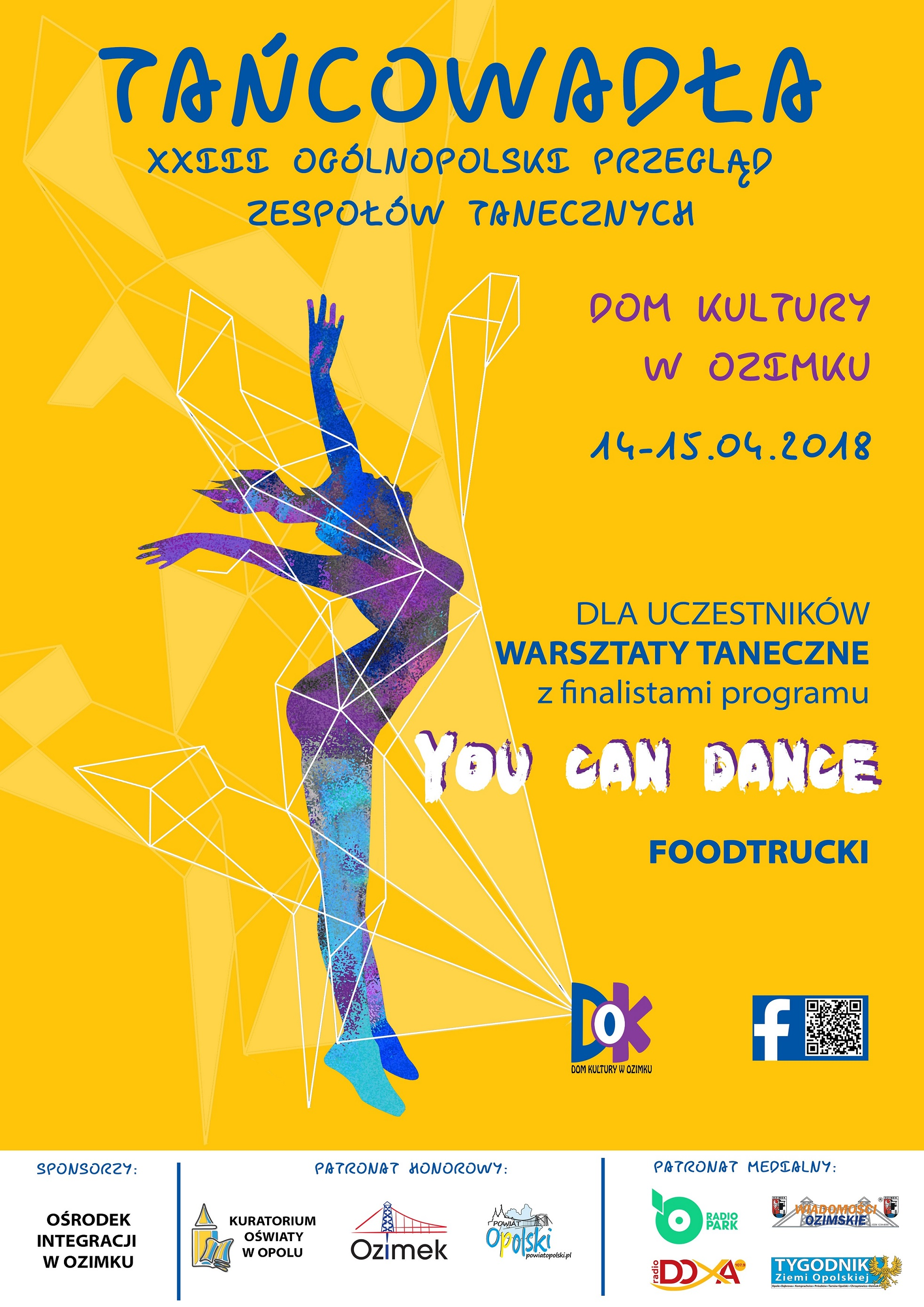 Plakat 'Tańcowadła' 2018 [materiały organizatora]