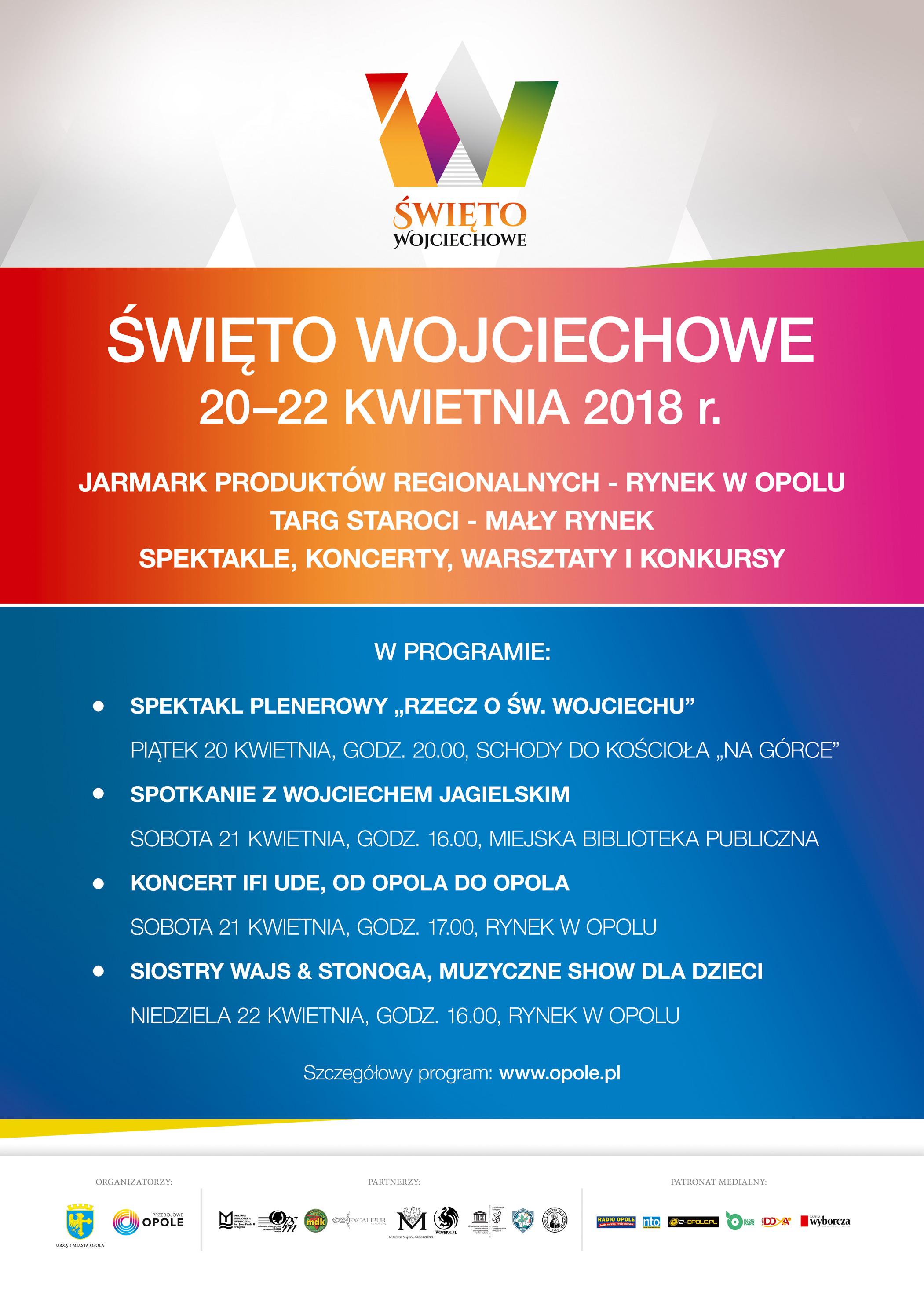 Plakat II Święta Wojciechowego w Opolu [materiały organizatora]