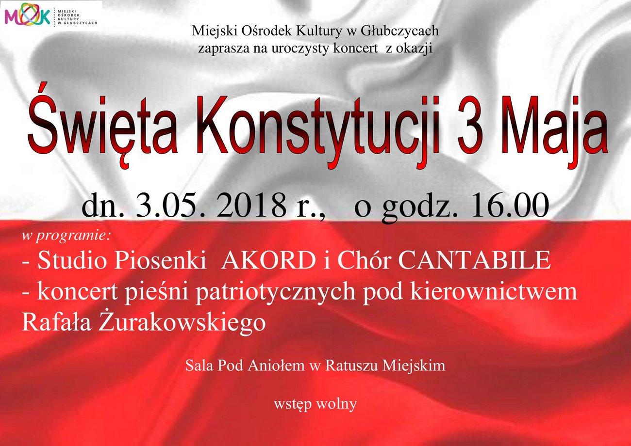 Koncert z okazji Święta Konstytucji 3 Maja w Głubczycach [materiały organizatora]